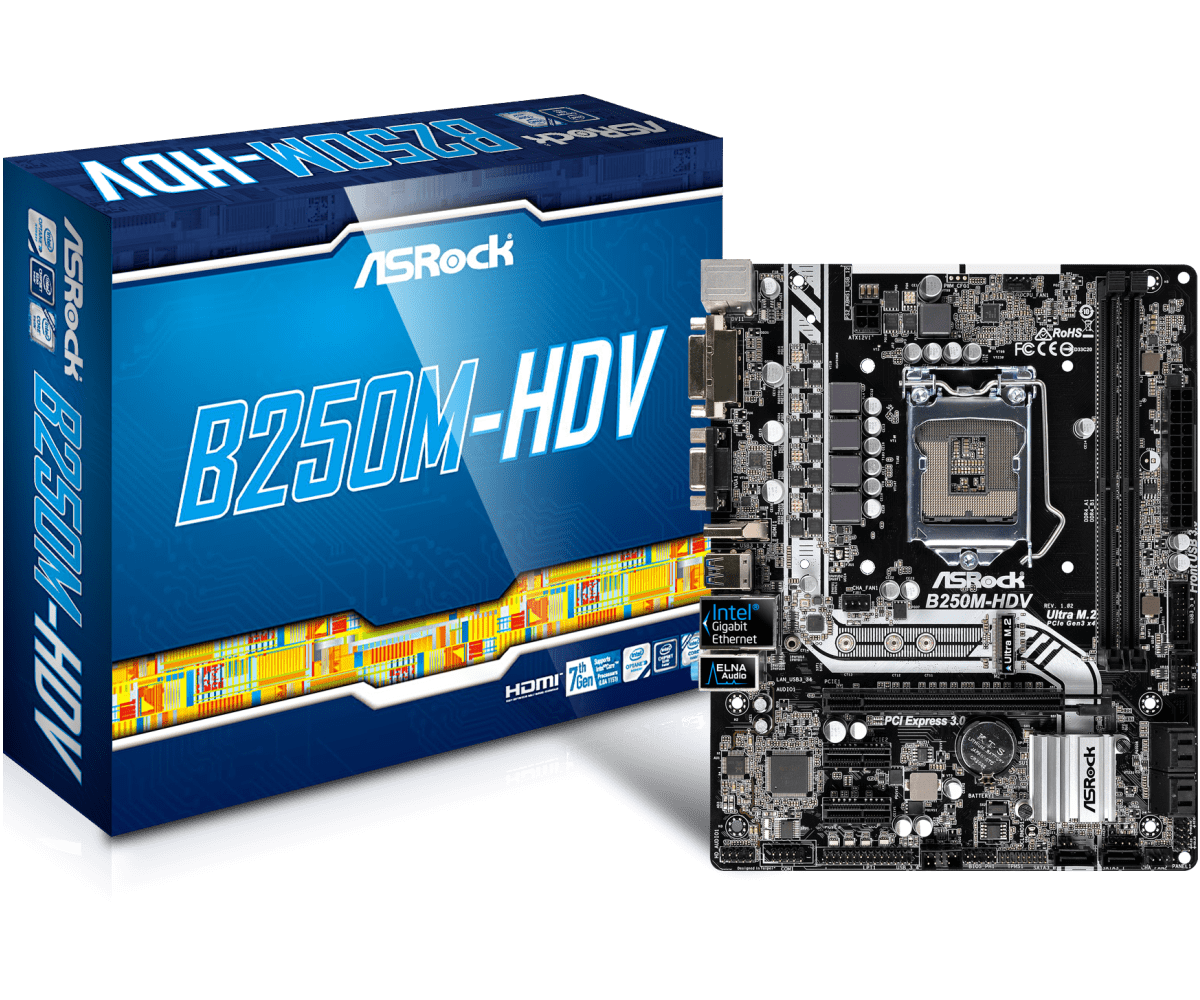 Asrock B250M-HDV - Motherboard Specifications On MotherboardDB